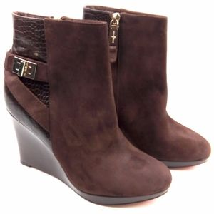 Cole Haan Martina Ankle Booties Leather Suede 6.5B